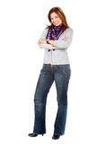 Casual woman isolated Stock Photography