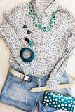 Casual woman outfit Stock Image