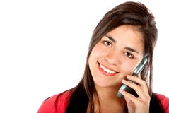 Casual woman on the phone Stock Photography