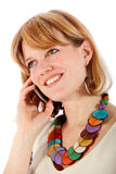 Casual woman on the phone Royalty Free Stock Photo