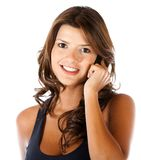 Casual woman on the phone Stock Image
