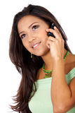 Casual woman on the phone Royalty Free Stock Images