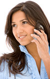 Casual woman on the phone Stock Photo