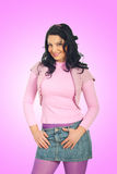 Casual woman in pink Stock Photography