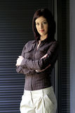 Casual woman portrait. In a corporate environment Royalty Free Stock Photos