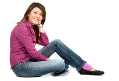 Casual woman portrait Stock Photos
