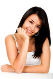 Casual woman portrait - smiling Stock Images