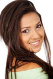 Casual woman portrait smiling Royalty Free Stock Photo