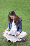 Casual woman reading Stock Photo