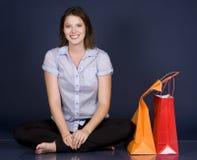Casual woman shopping Stock Photos