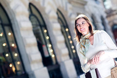Casual woman shopping Royalty Free Stock Image