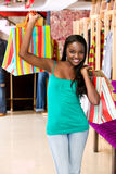 Casual woman with shopping bags Royalty Free Stock Photo