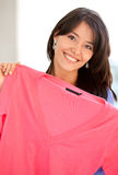 Casual woman shopping clothes Stock Photo