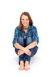 Casual woman sitting Royalty Free Stock Photo