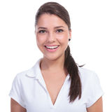 Casual woman smile portrait Royalty Free Stock Images