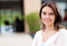 Casual woman smiling Stock Photo