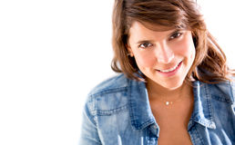 Casual woman smiling Stock Photography