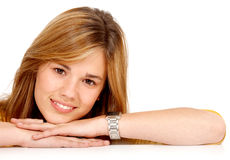 Casual woman smiling Royalty Free Stock Photos