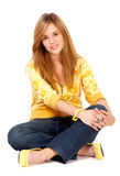 Casual woman smiling Royalty Free Stock Images