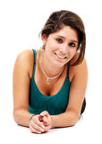 Casual woman smiling Royalty Free Stock Photo