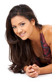 Casual woman smiling Stock Image