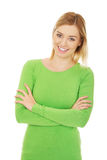 Casual woman smiling. Royalty Free Stock Photography