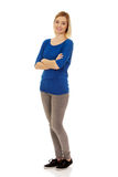 Casual woman smiling. Royalty Free Stock Photo