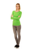Casual woman smiling. Royalty Free Stock Images