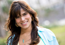 Casual woman smiling Royalty Free Stock Image