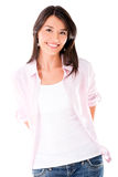 Casual woman smiling Stock Images