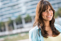 Casual woman smiling Royalty Free Stock Photography