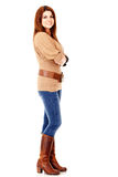 Casual woman stading Stock Image
