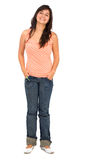 Casual woman standing Stock Images