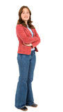 Casual woman standing Royalty Free Stock Images