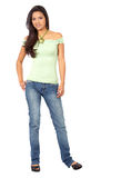 Casual woman standing Royalty Free Stock Photos