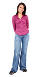 Casual woman standing up Royalty Free Stock Photos