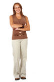Casual woman standing up Stock Images