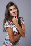Casual woman at the studio Royalty Free Stock Photo