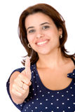 Casual woman with thumb up Royalty Free Stock Images