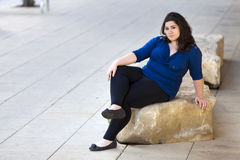 Casual woman - urban environment Royalty Free Stock Photo