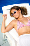 Casual woman on vacation Royalty Free Stock Photos