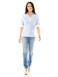 Casual woman walking Royalty Free Stock Photography
