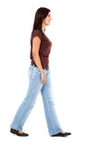Casual woman walking Stock Photos
