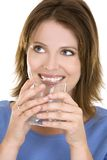 Casual woman with water Stock Images