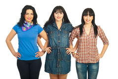 Casual women friends Stock Image