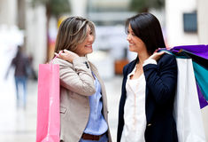 Casual women shopping Stock Photo