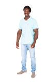 Casual young african man posing in front of camera Royalty Free Stock Photos