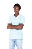 Casual young african man posing in front of camera Stock Photos