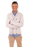 Casual young african man posing Royalty Free Stock Images