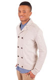 Casual young african man posing Royalty Free Stock Image